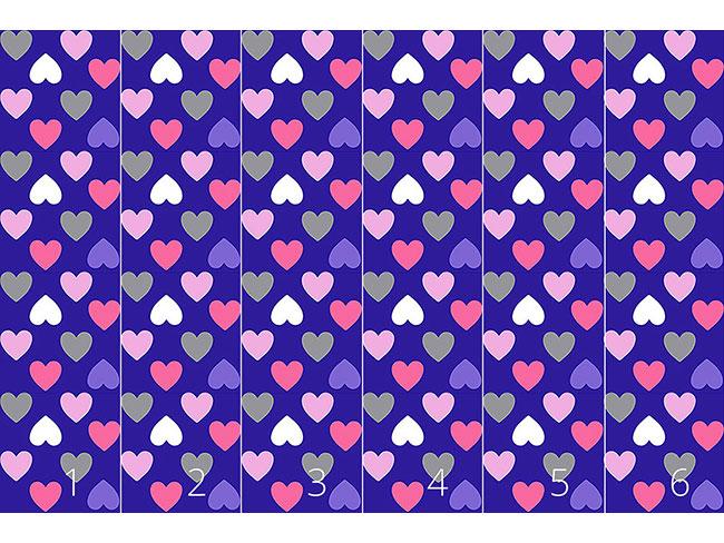 Designtapete Purpur Herzen
