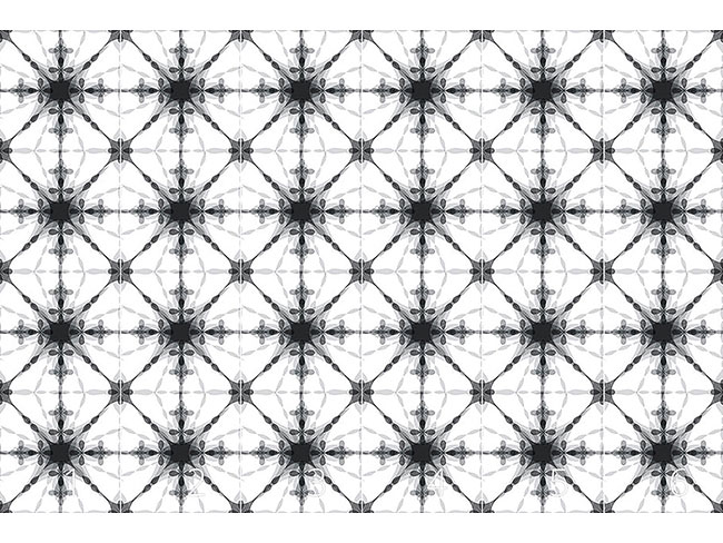 Designtapete Kaleidoskop Mono
