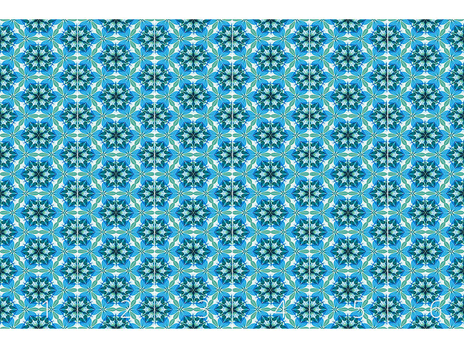 Designtapete Kaleidoskop Extrem Aqua