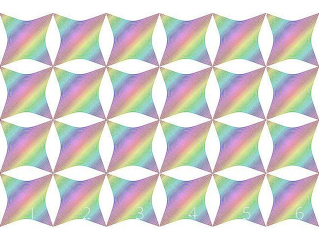 Designtapete Die Verzerrung Des Regenbogenkaros
