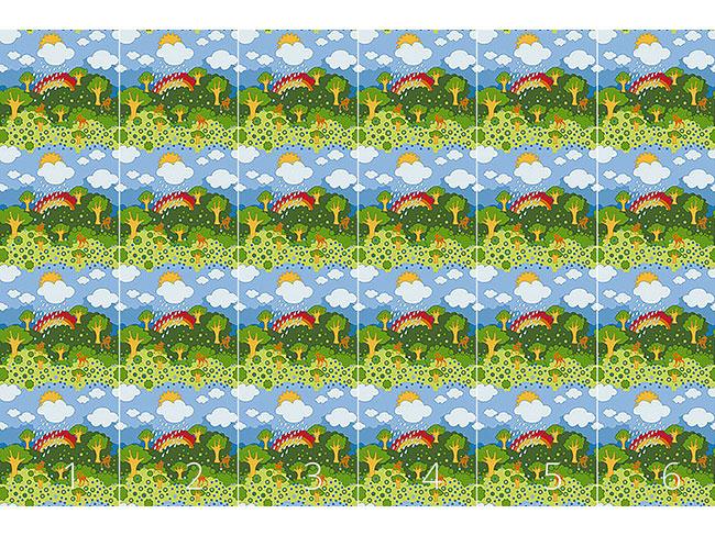 Designtapete Regenbogen Wunderland