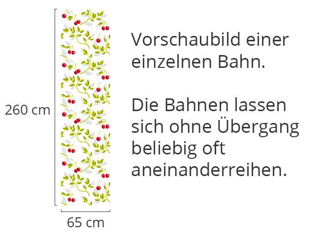 Designtapete Kirschenzweige Weiss