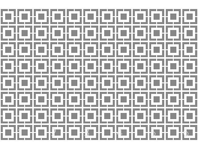 Designtapete Monochromes Gitter