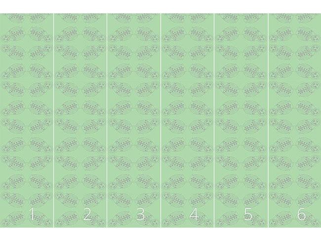 Designtapete Matrioschka In Grün