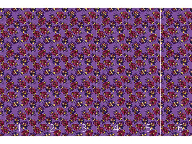 Designtapete Üppige Flora Royal