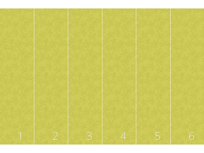 Designtapete Kastanienblätter Grün