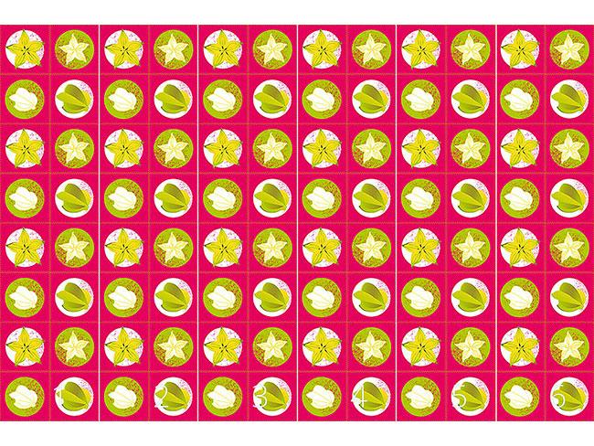 Designtapete Sternfrucht Pink
