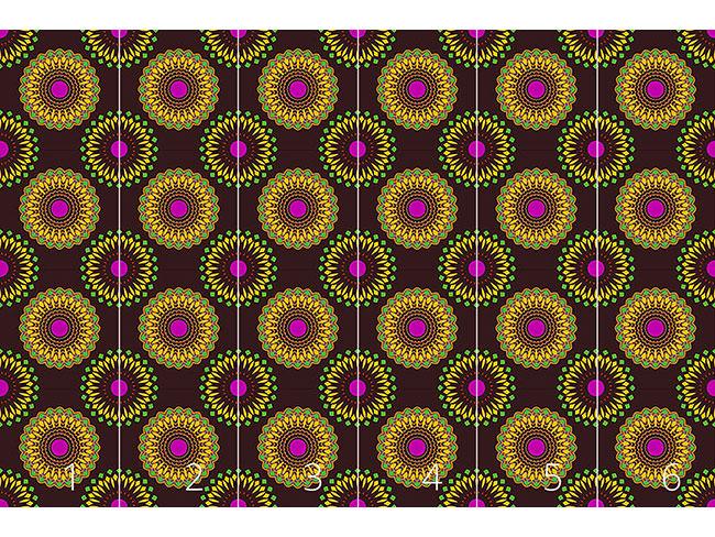 Designtapete Hypnotische Blumen