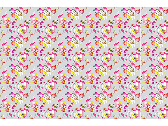 Designtapete Miami Pink Flamingo