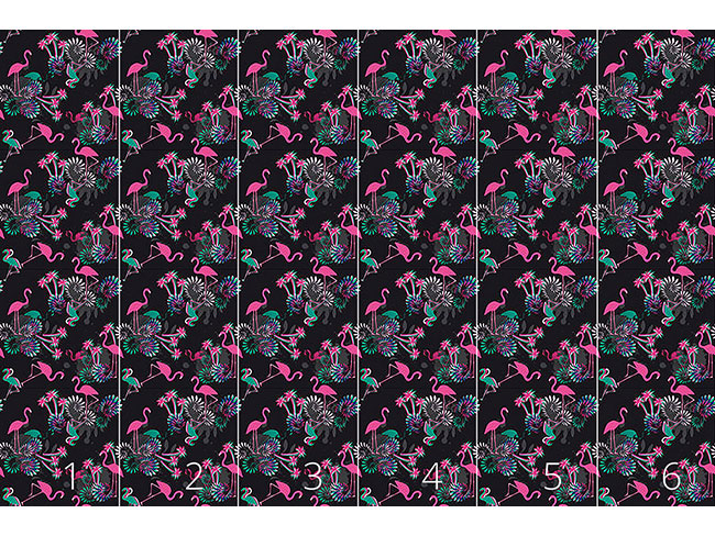 Designtapete Miami Nights Flamingo