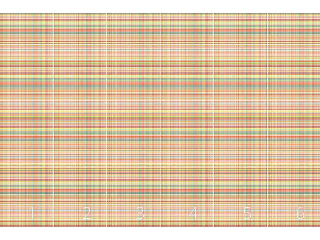 Designtapete Multicolor Gewebe