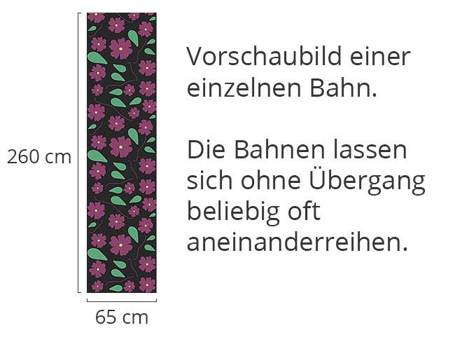 Designtapete Viola Auf Schwarz