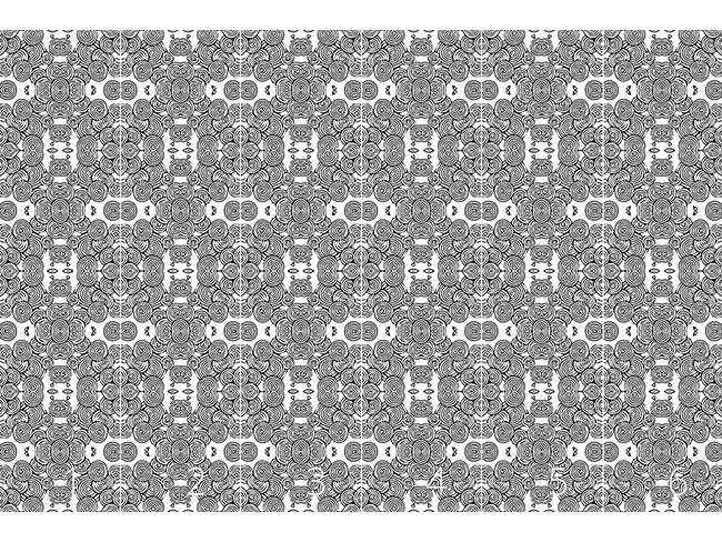 Designtapete Kreislauf Der Blumen