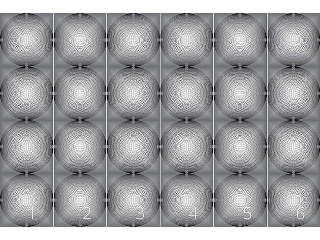 Designtapete Hypnotisches Zirkelleuchten