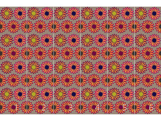 Designtapete Margeriten Multicolor