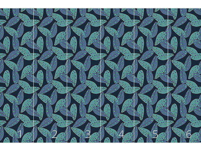 Designtapete Mystische Blätter