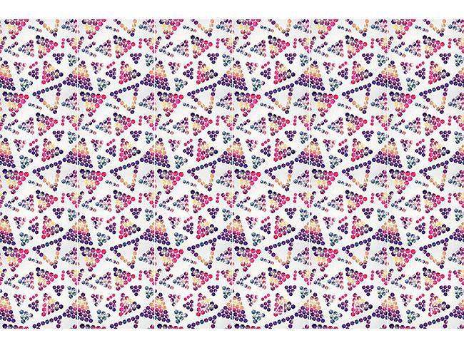 Designtapete Kristalle Im Dreiecksformat