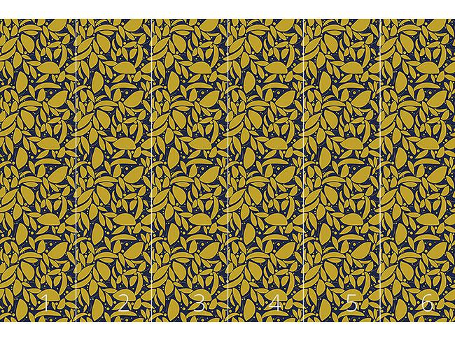 Designtapete Blattgold