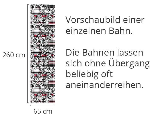 Designtapete Schottisches Rosenkaro