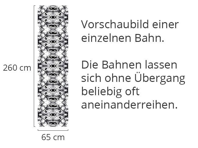 Designtapete Schwarzer Marmor