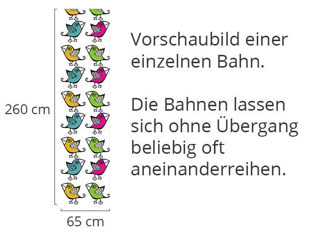 Designtapete Vier Vöglein