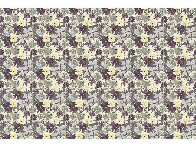 Designtapete Sie Träumte Im Blumengarten