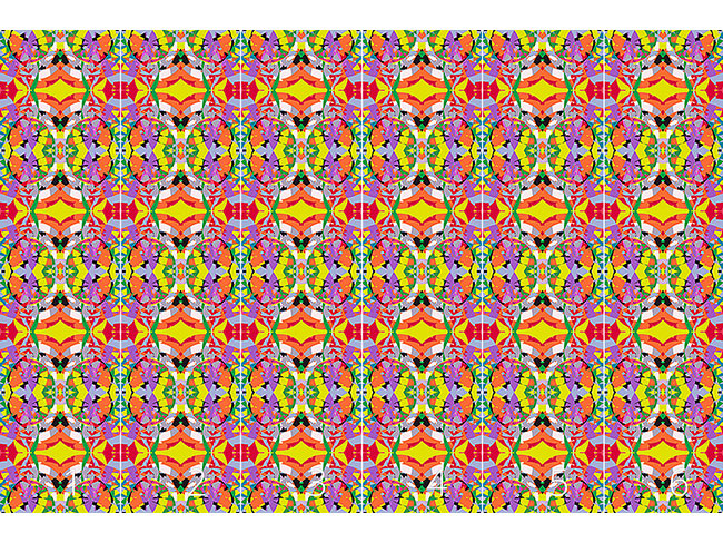 Designtapete Buntglas Mosaik
