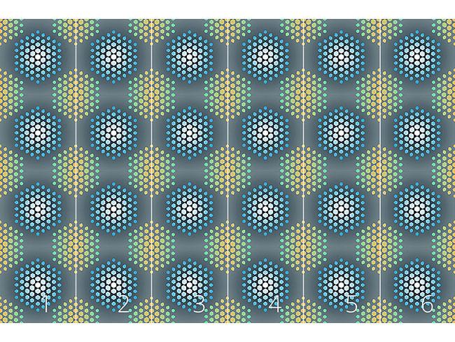 Designtapete Eisheilige Hexagons
