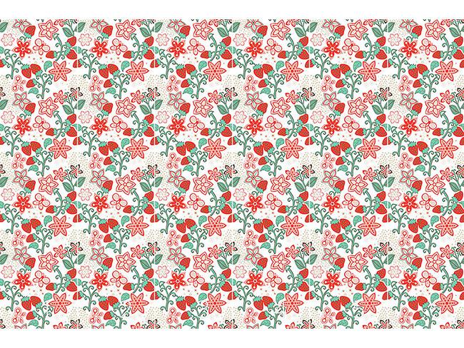 Designtapete Süsses Erdbeer Paradies