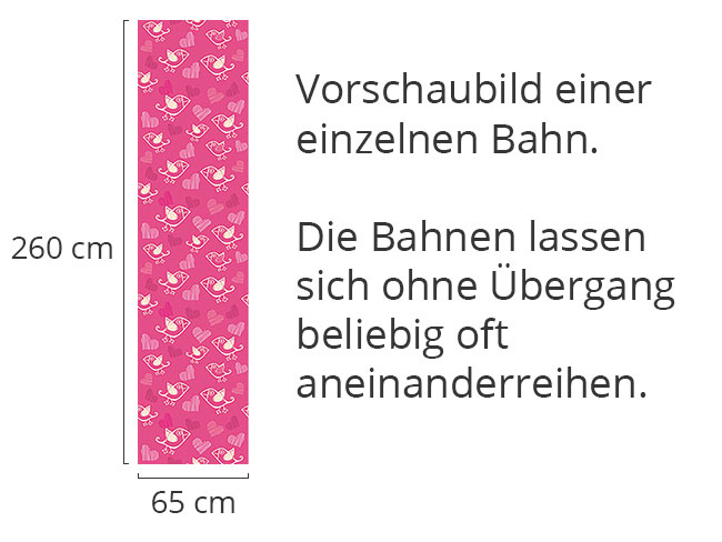 Designtapete Verliebte Vöglein