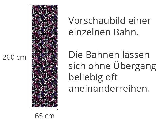 Designtapete Blattwerk Bohemien Bei Nacht