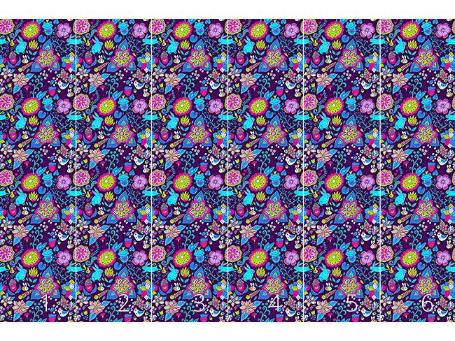 Designtapete Zauberwelt In Ultraviolett