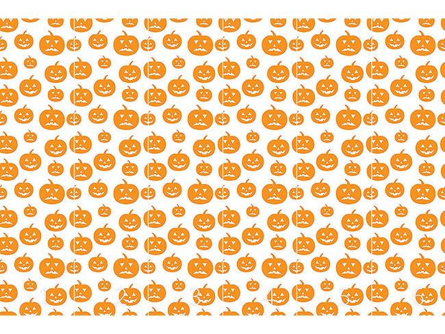 Designtapete Halloween Kürbisse