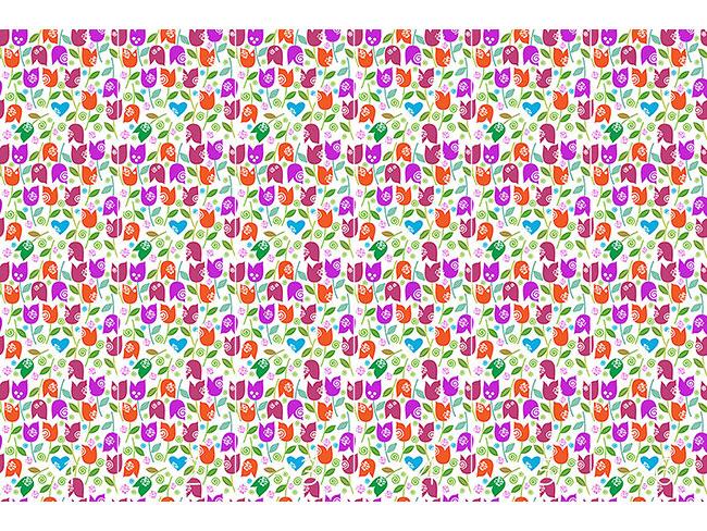 Designtapete Fröhlicher Tulpen Mix