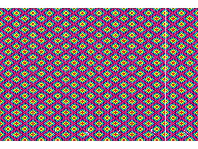 Designtapete Regenbogen Quadratur