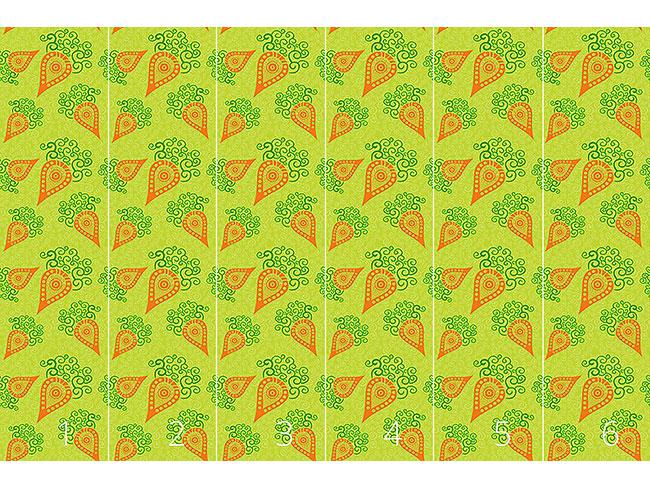 Designtapete Filigrane Baby Karotten