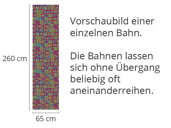 Designtapete Crossover Mosaik Blümchen