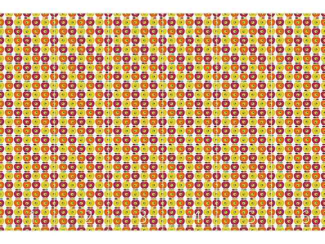 Designtapete Retro Apfel