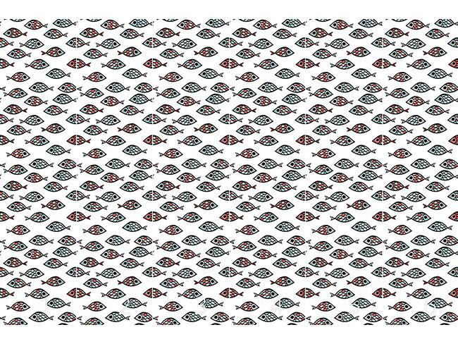 Designtapete Fischschwarm
