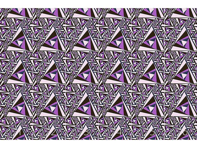 Designtapete Dreieck Rotation