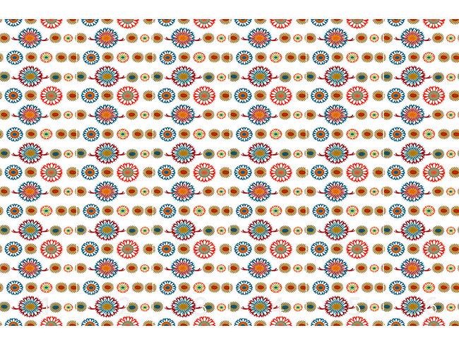 Designtapete Anny Mag Blumen Mandalas
