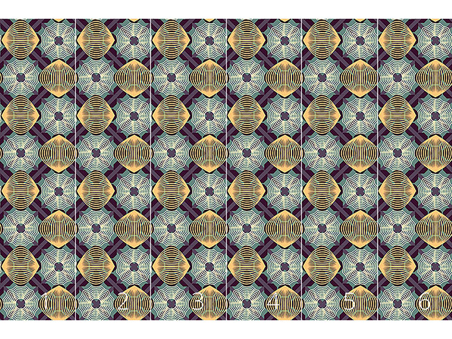 Designtapete Spiralen Illusion