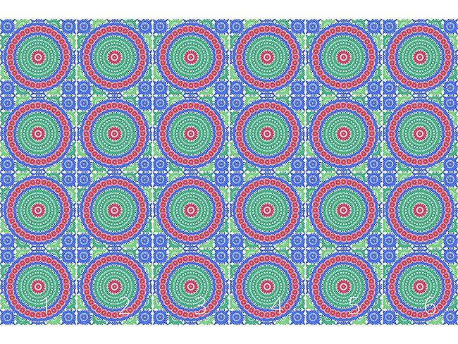 Designtapete Scherenschnitt Deckchen