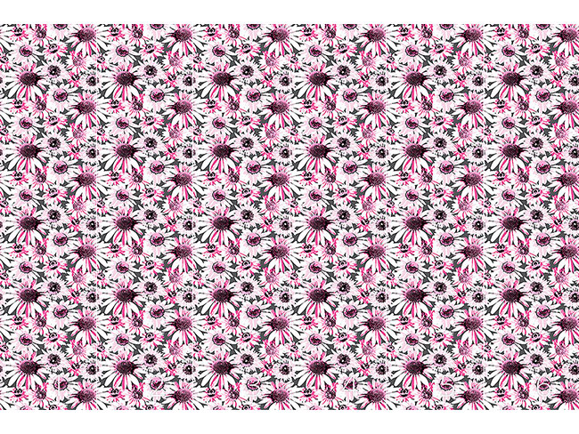Designtapete Pop Art Blumenmeer