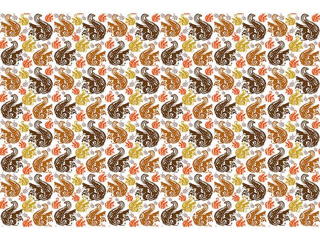 Designtapete Eichhörnchen Treffen