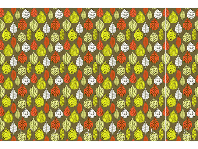 Designtapete Blätter Mit Stil