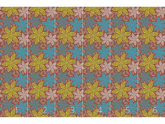 Designtapete Polynesische Flora