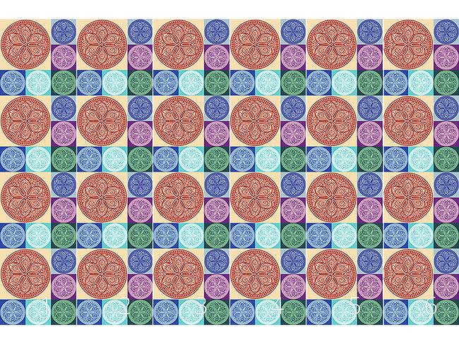 Designtapete Mandala Patchwork