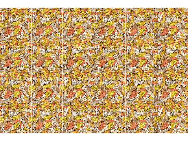 Designtapete Goldene Blumen Spinnen