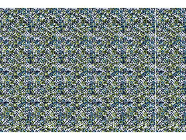 Designtapete Frisches Crossover Mosaik